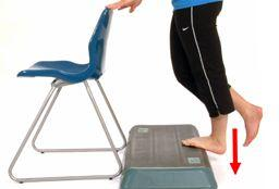 calf stretch off board Mt Barker Adelaide Physio Physiotherapist